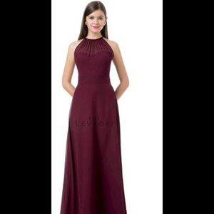 Bill Levkoff Maroon Gown